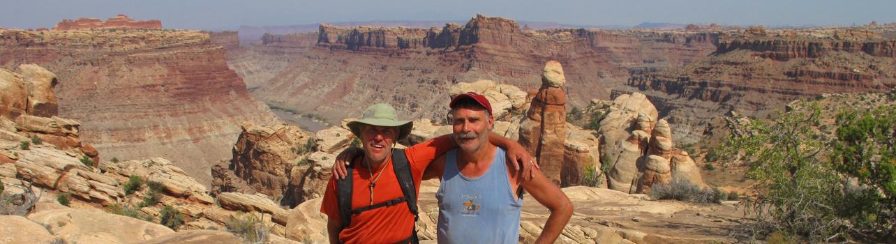 Green Brad and Matt Hiking