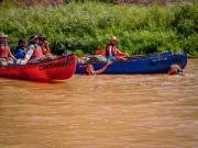 Gunnison River Canoeing: Happy Hikers